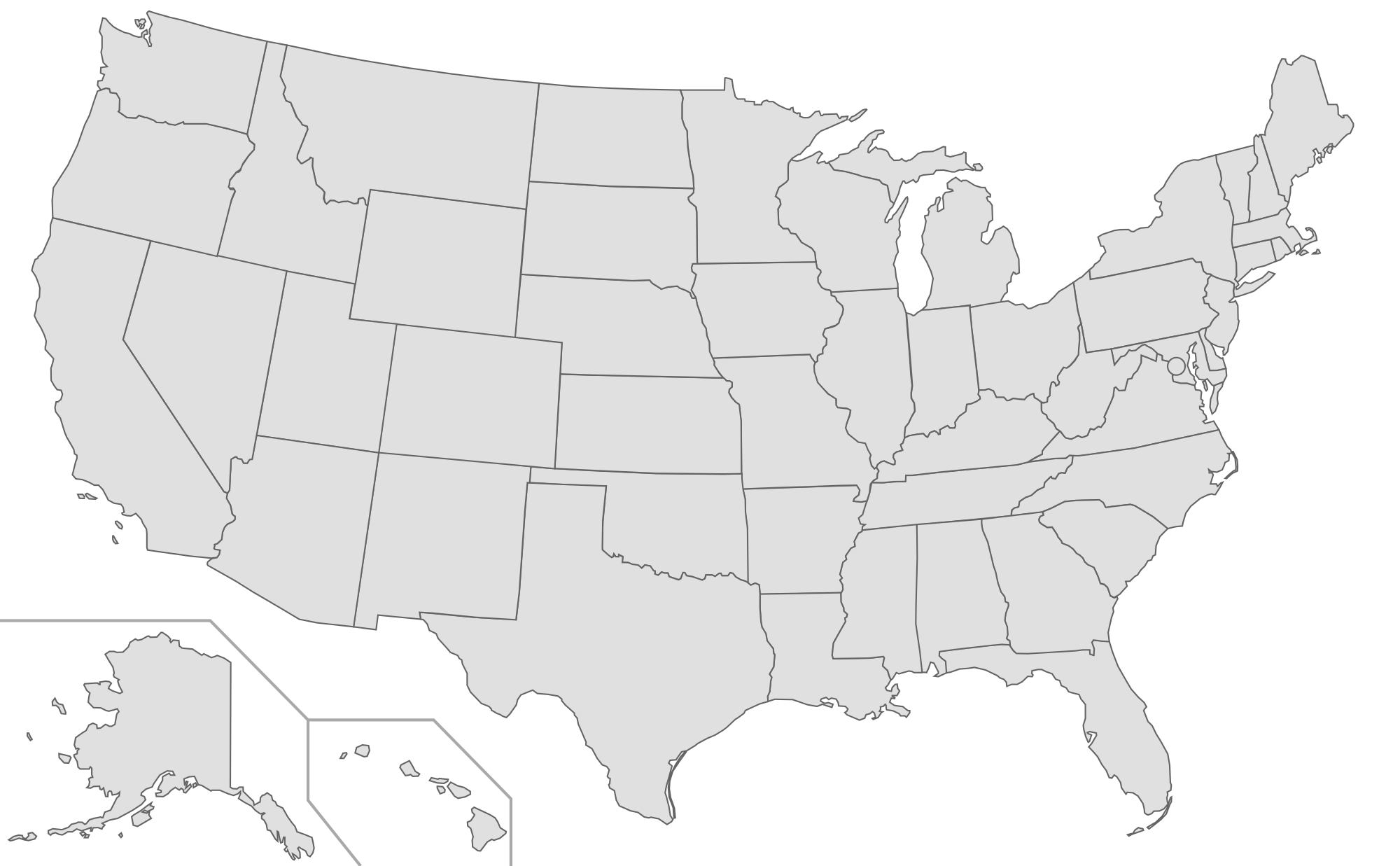 Blank Us Map Numbered - Us plain map